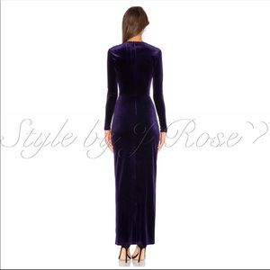 by the way. Dresses - by the way. Long Purple Velvet Gown